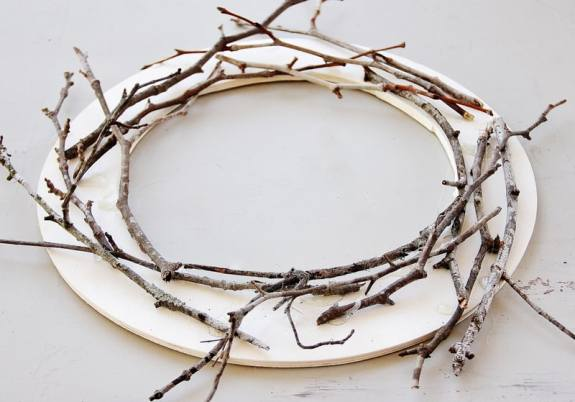 twig wreath tutorial