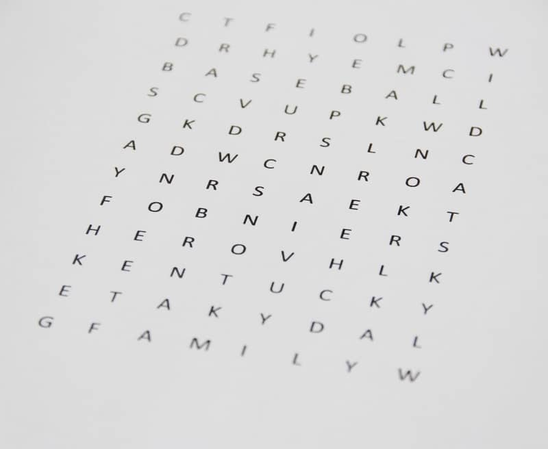 custom word search