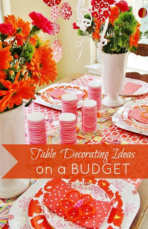 Table Decorations Budget