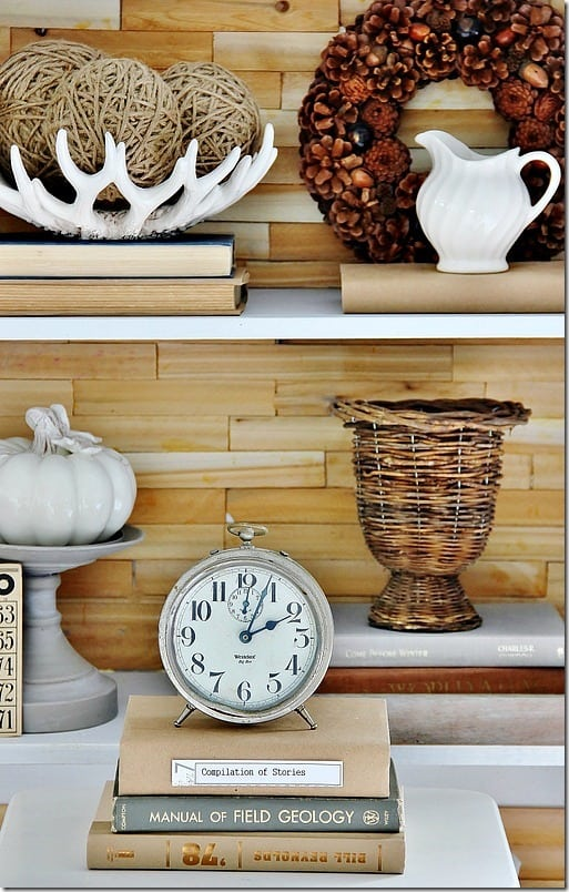rustic wood bookcase diy