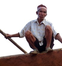 Nepalese builder. Photo from Rob's trip to Nepal in 2012