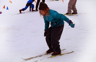 Olive finding her feet on the slopes