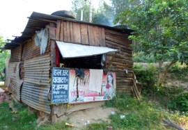 View of their original house. We built them a new one. Photo from Rob's trip to Nepal in 2012