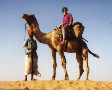 Three days on a camel. From Rob's trip to India in 1999.