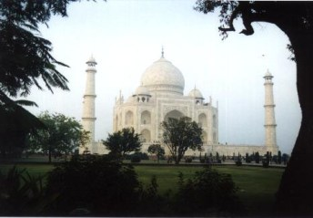 Another view of the Taj Mahal. From Rob's trip to India in 1999.
