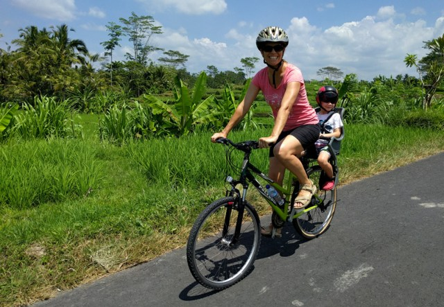 Downhill cycling with Halo Bike Tours in Ubud Bali