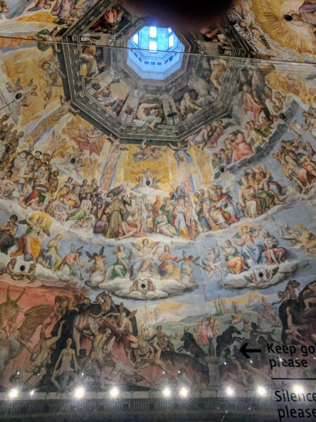 Frescos on the Florence duomo dome