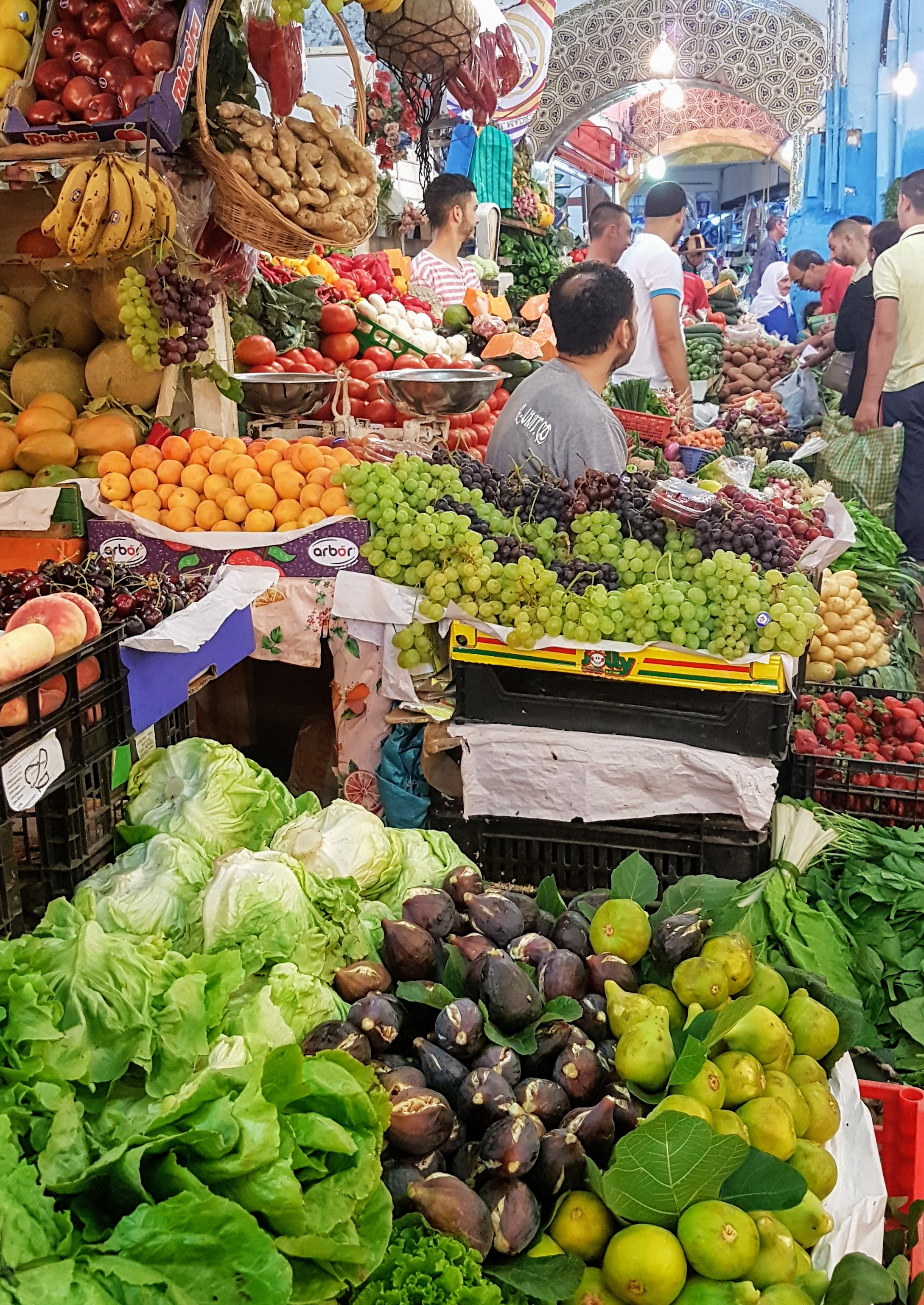 The colourful and vibrant marketplace
