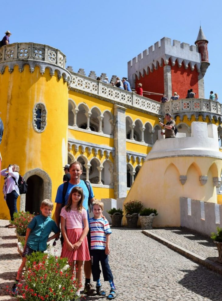 Colourful Pena Palace in Sintra