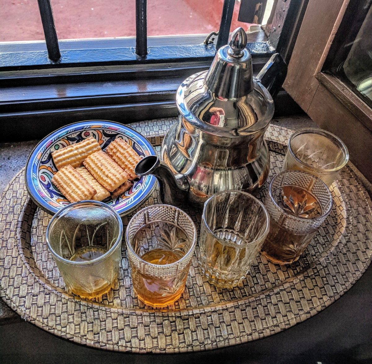 Mint tea is the Moroccan welcome drink