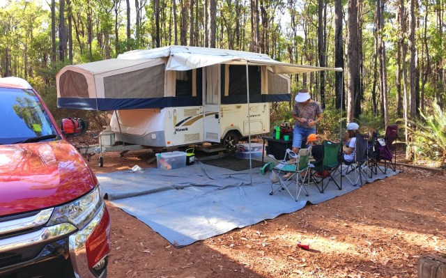 Camping at Chuditch campground in Dwellingup