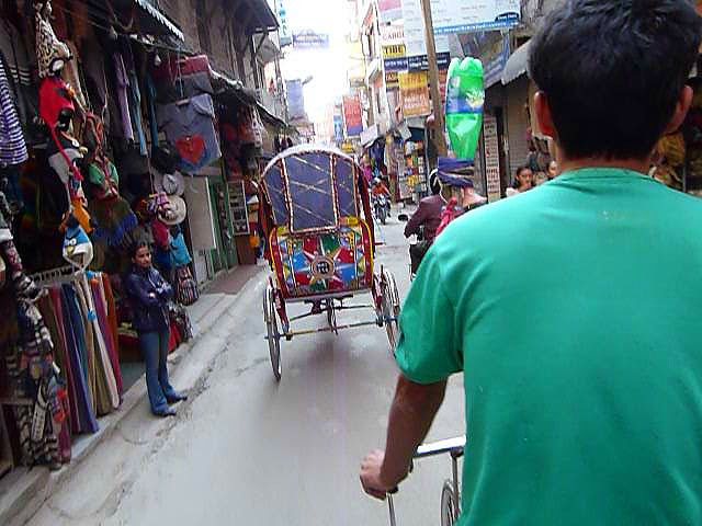 A rickshaw, the best way to get around Kathmandu