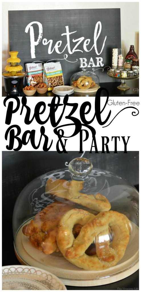 Gluten Free Pretzel Bar and Party | gluten free party ideas || This Vivacious Life #pretzelbar #glutenfreeparty