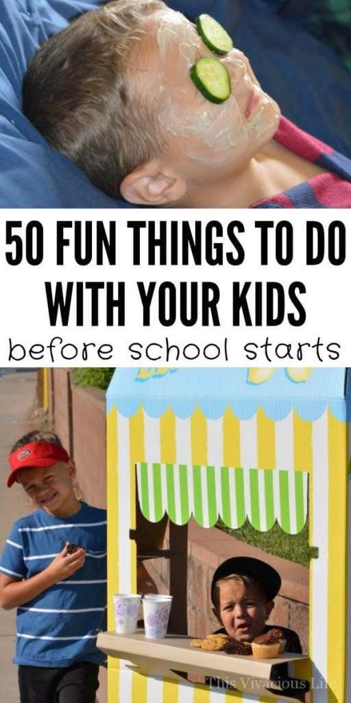 50 Things to do this summer with your kids before school starts | summer fun for kids || This Vivacious Life #summer #backtoschool #summerfun #kids #thisvivaciouslife