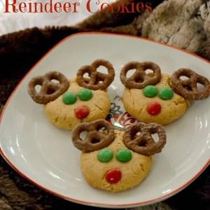 {Gluten-Free} Peanut Butter Reindeer Cookies