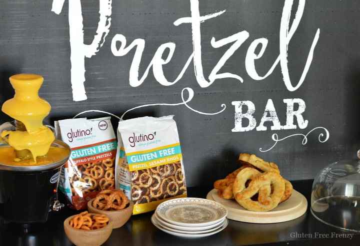 This is so fun... Learn how easy it is to put together your own pretzel bar for a party on national pretzel day or any other occasion!