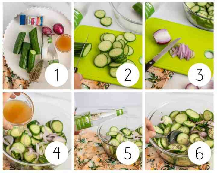 Step-by-step instructions for the best cucumber salad