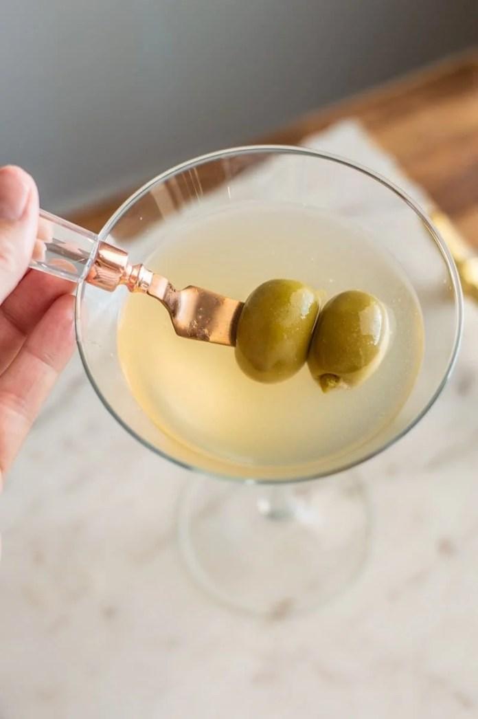 Non Alcoholic Vodka And Dirty Martini Mocktail This Vivacious Life