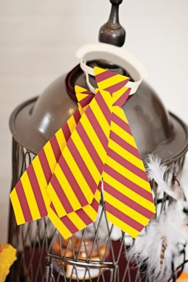 Create Gryffindor ties for everyone to wear.