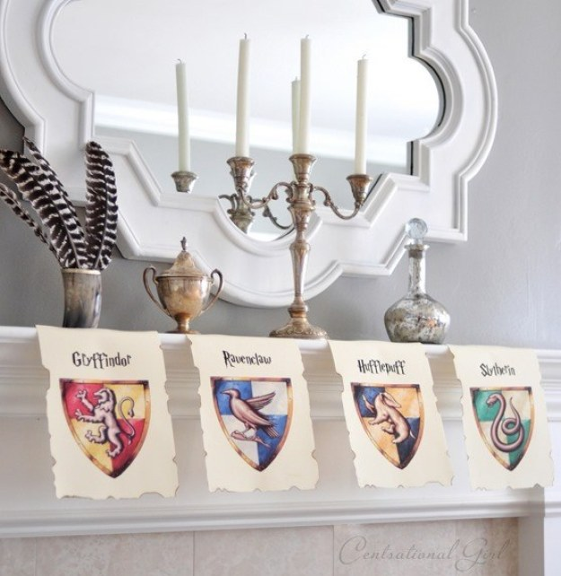 Hang school banners from every house to spruce up the party.
