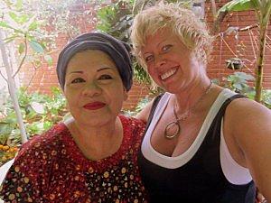 La Teca owner and me