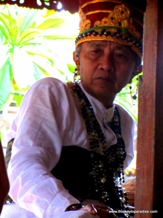 High Priest at Bali Ceremony