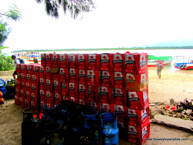 Piles of Bintang on the Gili Islands