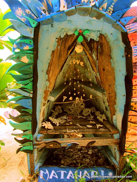 Matahari peace and love sculpture, Gili Air, Gili Islands