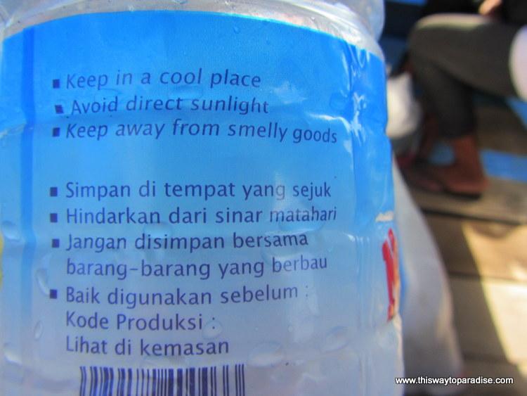 Water bottle in Asia