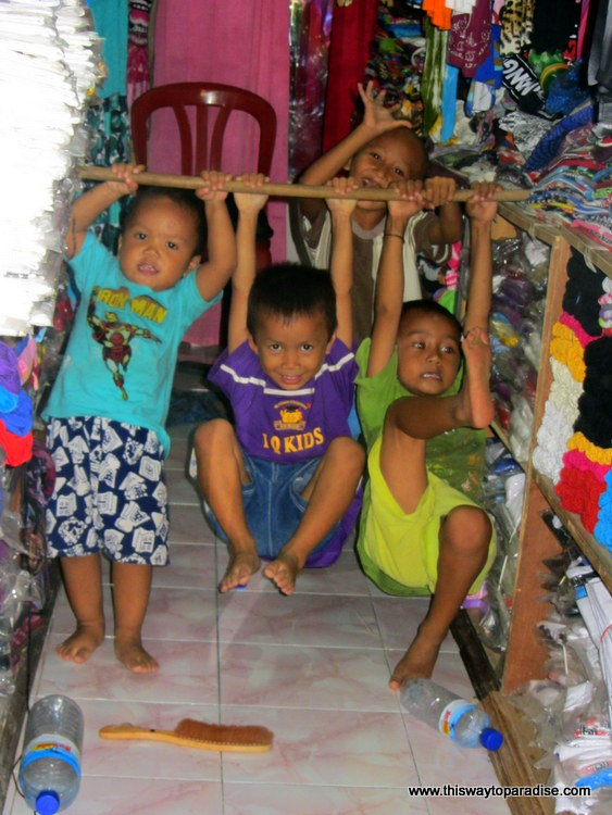 Cute Gili Island Kids
