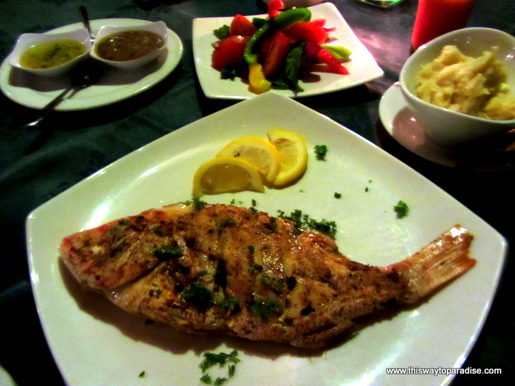 Fried Red Snapper at CocoNuts at Santai Hotel, Amed