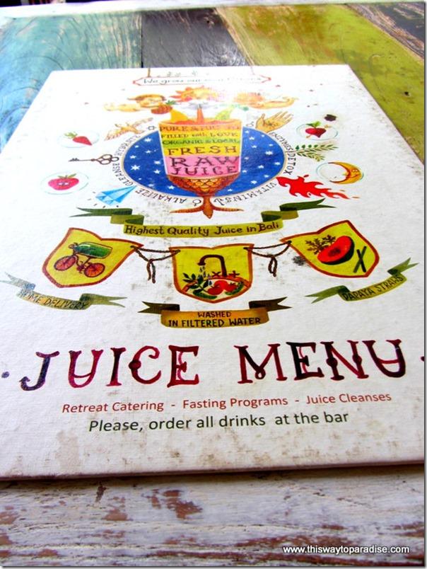 Alchemy, a juice bar in Ubud, Bali