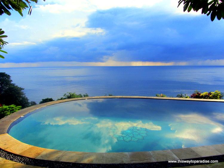 Pool reflection at Bedulu Resort, Amed, Bali