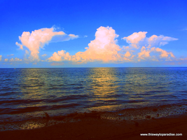 Ocean and clouds in Amed, bali