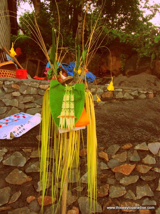 Offering in Amed, Bali