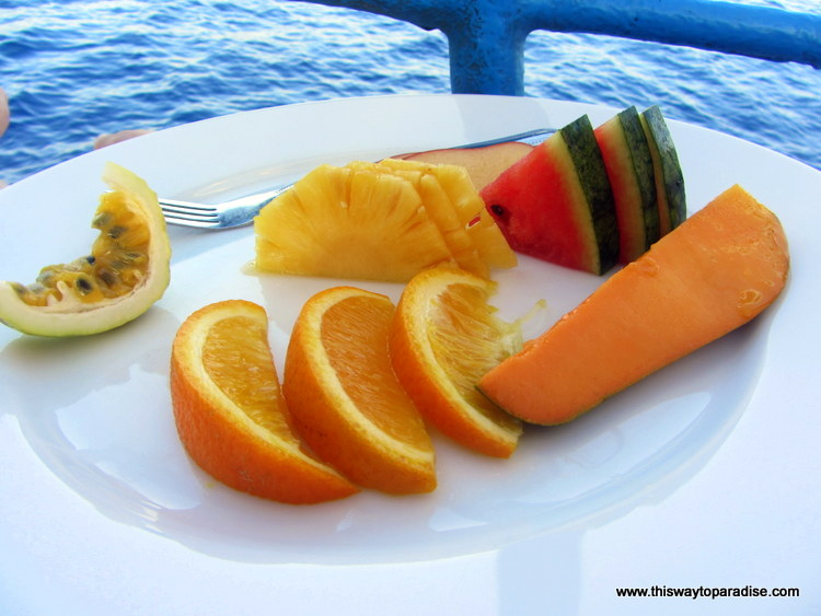 Fruit on whale watching tour Sri Lanka