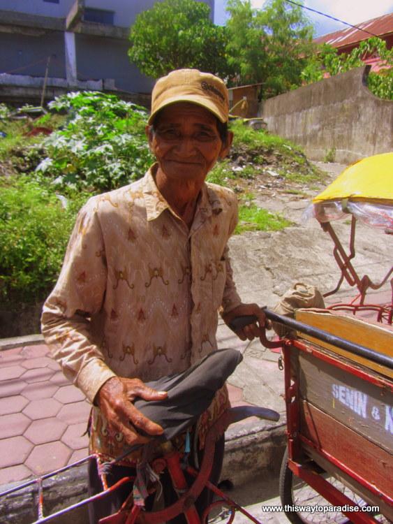 Ambon rickshaw driver