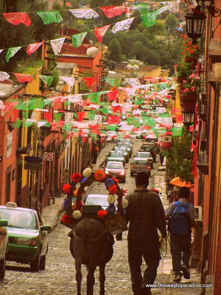 Walking Home in San Miguel de Allende