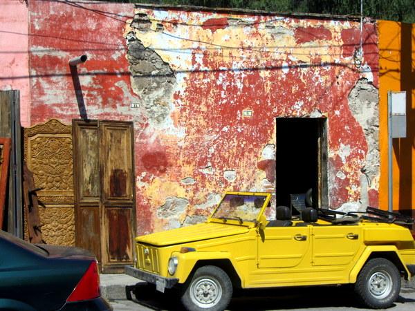 Imperfection Peeling paint building in San Miguel de Allende, Mexico