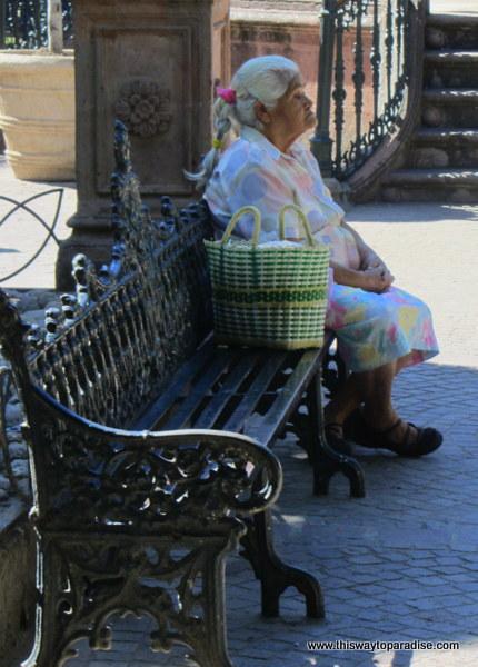 Woman in San Miguel de Allende, Mexico Jardin