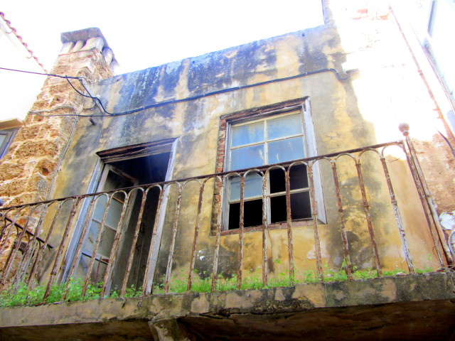 Old town abandoned houses, Chania, Crete