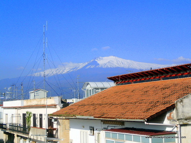 Mt Etna from Gianni House, Taormina