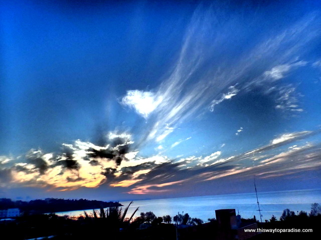 Sunset at Villa Margherita hotel in Cefalu, Sicily