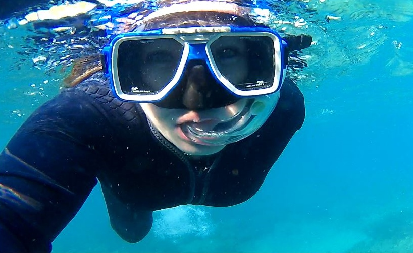 Snorkel selfie at the Whitsunday Islands, Australia