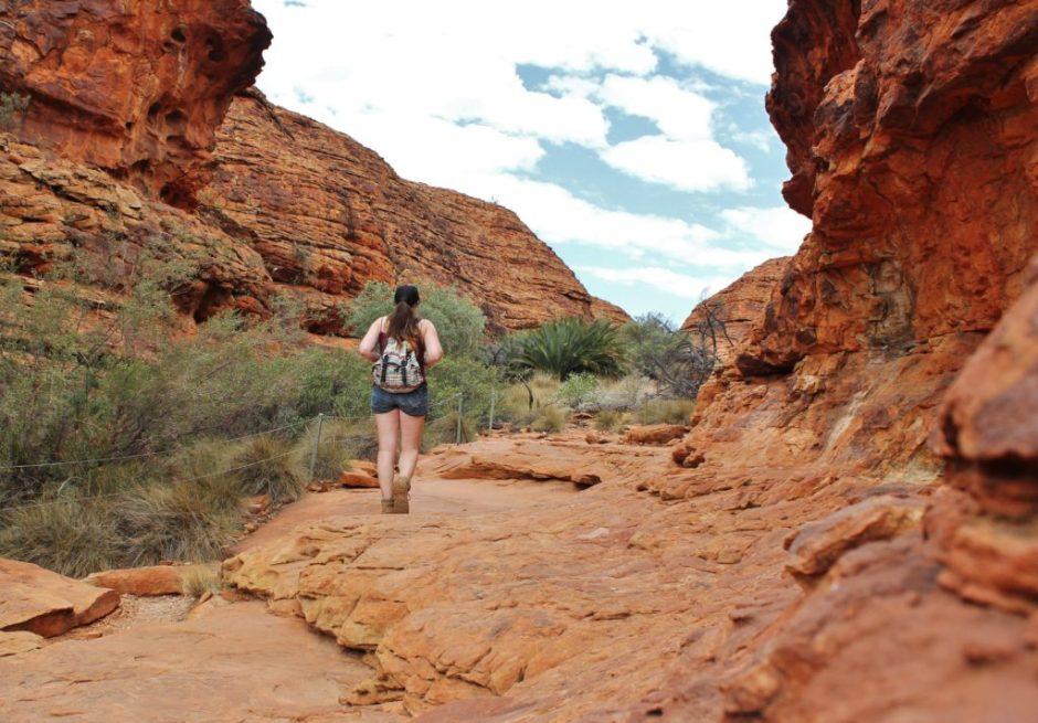 Exploring Kings Canyon, Australia