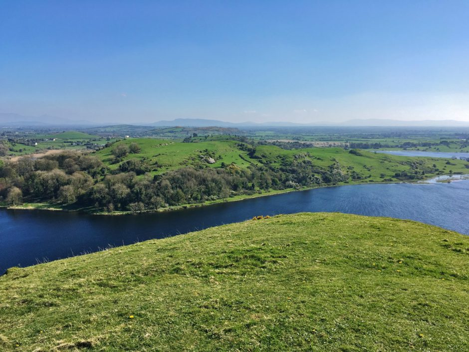 Lough Gur from the top of the hill, Ireland