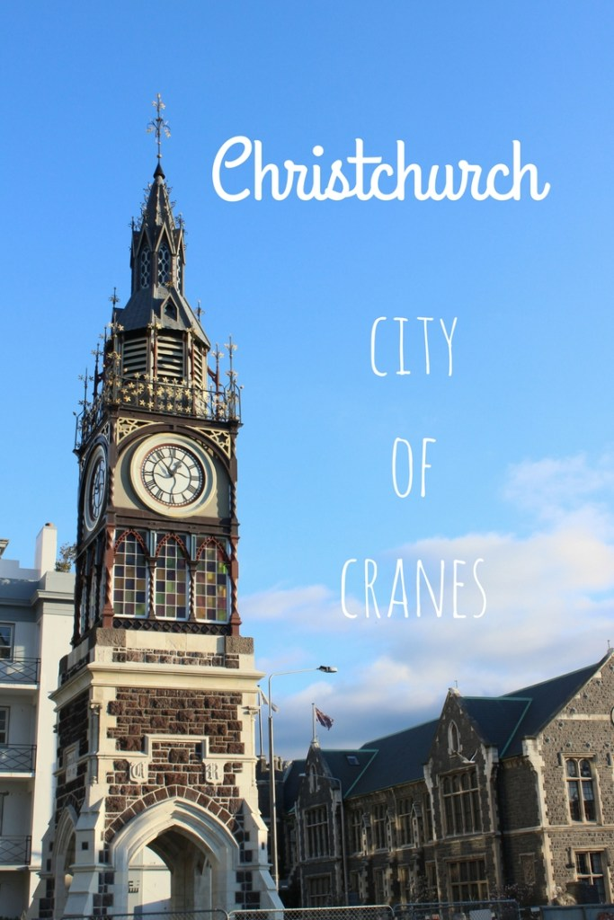Christchurch is a city of cranes, still in recovery from the 2010 and 2011 earthquakes.