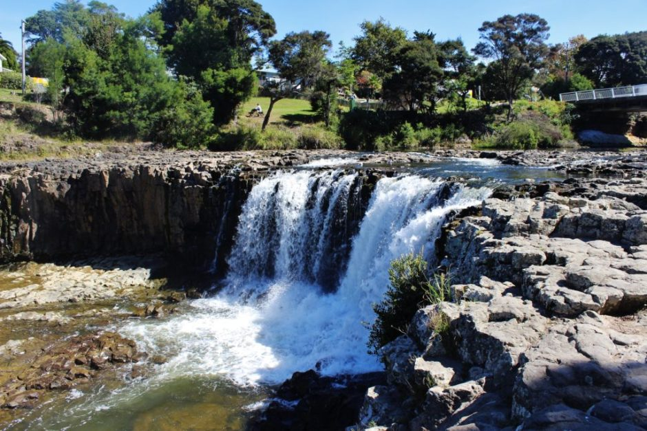 Haruru Falls in the Bay of Islands, New Zealand