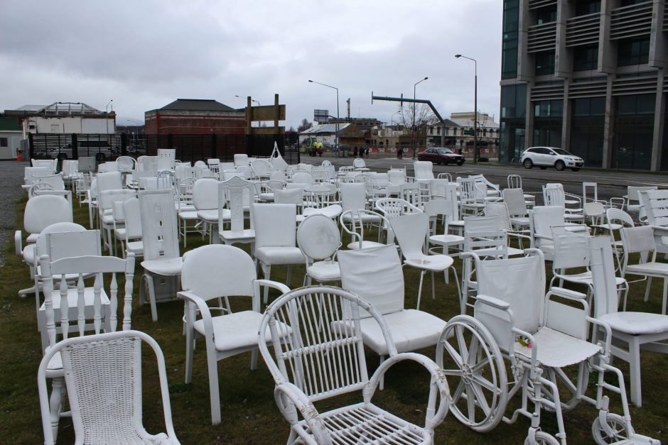 The White Chairs in Christchurch, New Zealand
