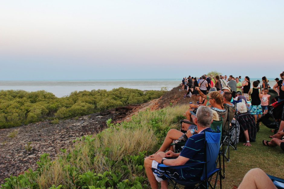 Waiting for the Staircase to the Moon at Broome, Australia